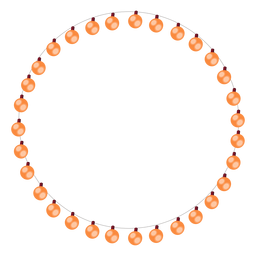 Burbuja guirnalda bombilla navidad ilustración