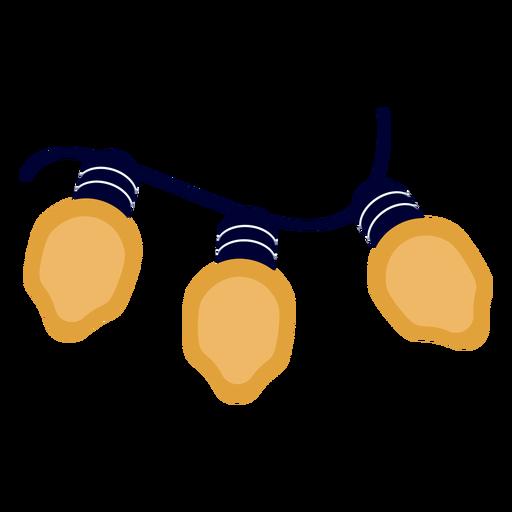 Bulb garland christmas xmas flat Transparent PNG