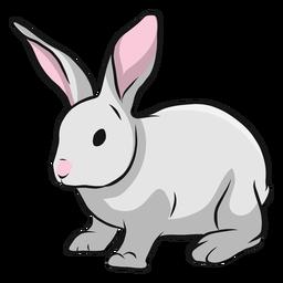 Ilustración de oreja de hocico de conejo de conejito