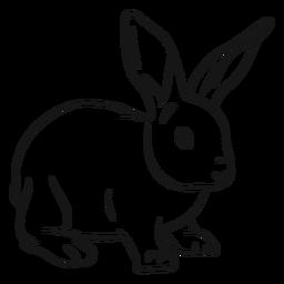 Desenho de orelha com focinho de coelho coelhinho