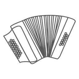 Doodle de acordeão de acordeão de botão