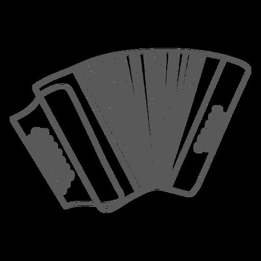 Doodle de acordeão de acordeão de botão Transparent PNG