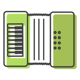 Button accordion accordion stroke