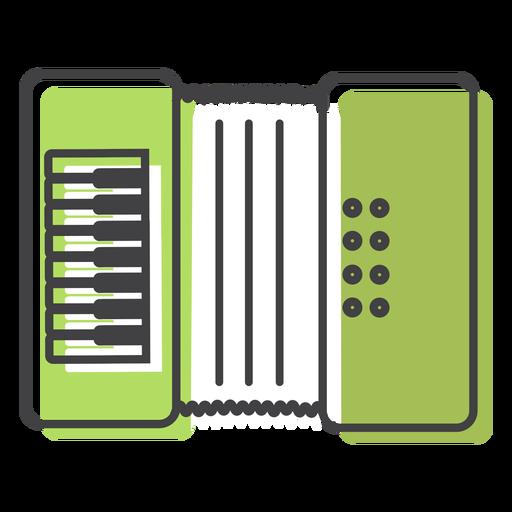 Button accordion accordion stroke