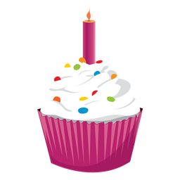 Pastel crema vela ilustración fuego