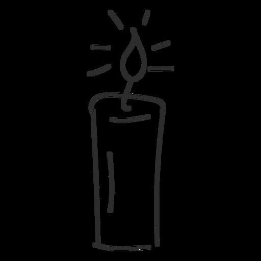 Candle light sketch stroke Transparent PNG