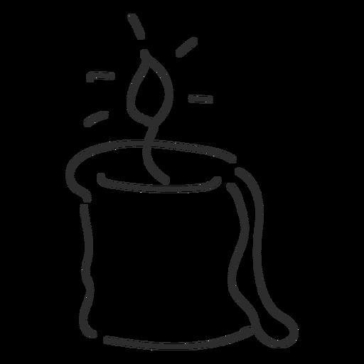 Candle Sketch Stroke Transparent Png Svg Vector File
