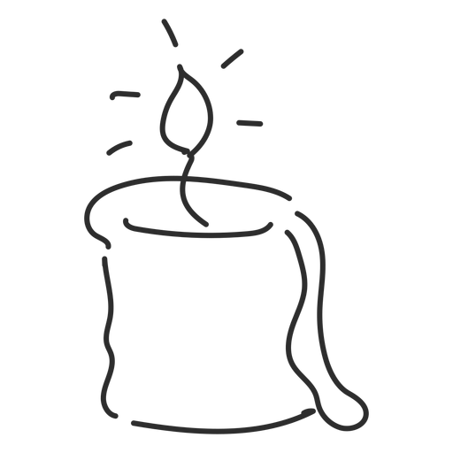Traço de esboço de vela Transparent PNG