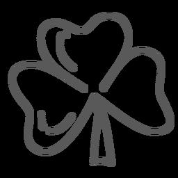 Doodle de folha de trevo