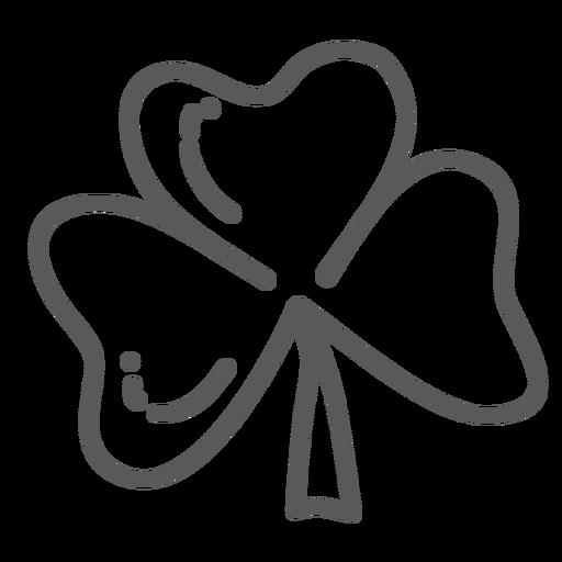Clover leaf doodle