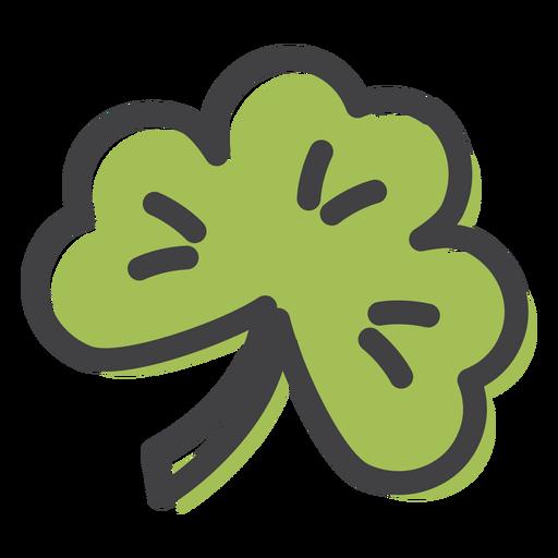 Clover leaf stroke Transparent PNG