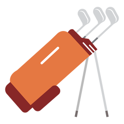 Club bag golf illustration