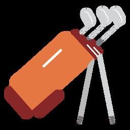 Ilustração de golfe de saco de clube