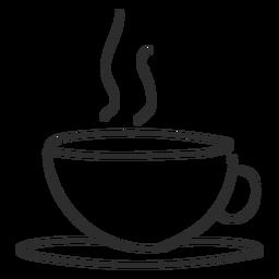 Curso de doodle de vapor de xícara de chá