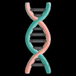 Ilustração do gene da cadeia de DNA