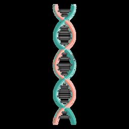 Ilustração de corrente de DNA