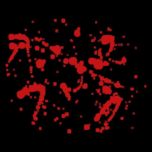 Drop blood paint splatter