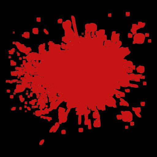 Gota de sangre de la piscina de la gota