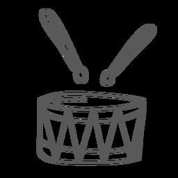 Doodle de baqueta de tambor