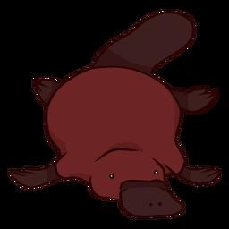 Ilustração de cauda de bico de ornitorrinco bico de pato