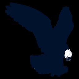 Silhueta de asa de bico de águia
