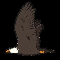 Ilustração de cauda de asa de bico de águia