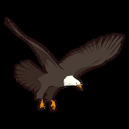 Ilustração de cauda de asa de águia