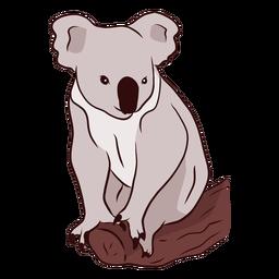 Ilustração de ramo de nariz de coala de orelha