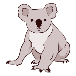 Ear koala leg nose illustration
