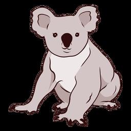 Ilustración de nariz de pierna de koala de oreja