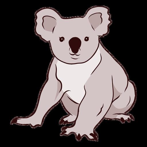 Ilustración de nariz de pierna de koala de oreja Transparent PNG