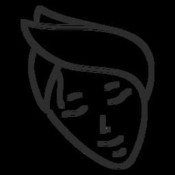 Gesicht Stirnband Skizze Schlaganfall