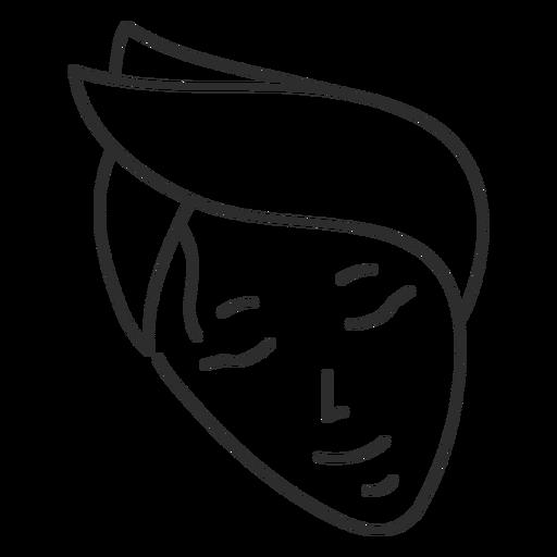 Face headband sketch stroke Transparent PNG