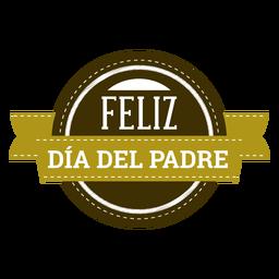 Insignia de la inscripción de la viñeta del sombrero del bigote del corazón del día de padre