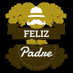 Placa de inscripción del día del padre.