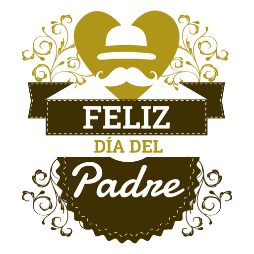 Father?s day inscription badge Transparent PNG