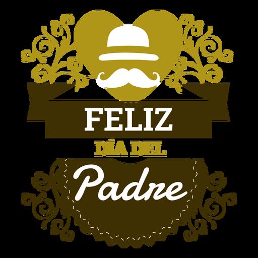 Placa de inscripción del día del padre. Transparent PNG
