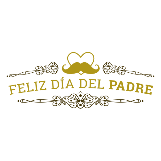 Insignia de inscripción del bigote del corazón viñeta del día del padre Transparent PNG