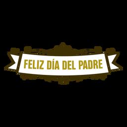 Emblema de inscrição de vinheta de dia dos pais