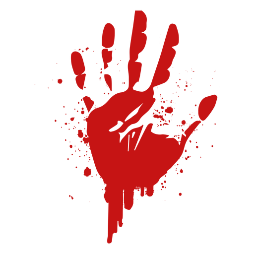 Finger palm print blood silhouette Transparent PNG