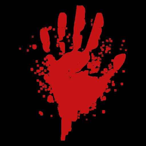 Silhueta de sangue do dedo palma impressão Transparent PNG
