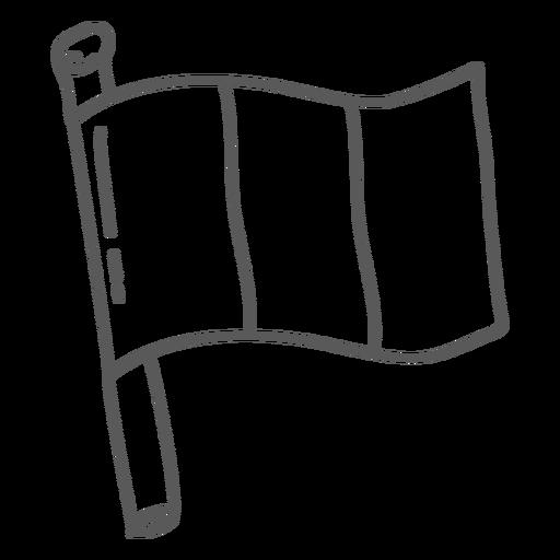Flag banner doodle Transparent PNG