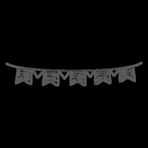 Flag garland doodle Transparent PNG