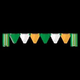 Bandera guirnalda plana