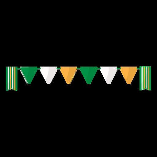 Bandera guirnalda plana Transparent PNG
