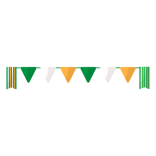 Guirlanda de bandeira plana Transparent PNG