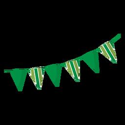 Bandeira guirlanda listra plana