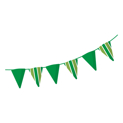 Bandeira guirlanda listra plana Transparent PNG