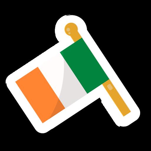 Bandera de Irlanda pegatina Transparent PNG