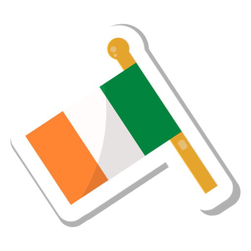 Flag ireland sticker Transparent PNG
